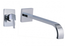 1 WALLmounted single lever basin mixer 200mm projection basin mixer